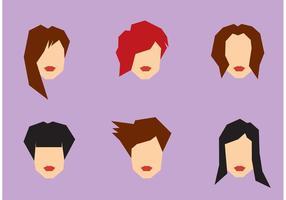 Jeu de coiffures féminin gratuit vecteur