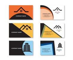 Conception de carte de visite de biens immobiliers modernes vecteur