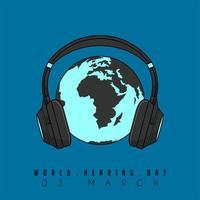 conception de la journée mondiale de l'audition vecteur