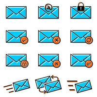 jeu d'icônes de lettre e-mail