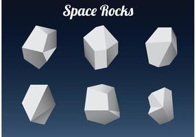 Roches de l'espace polygonal vecteur