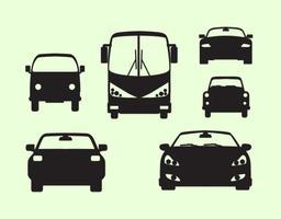 Vue de face de voiture vecteur