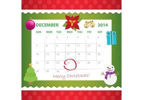 Calendrier d'avers de décembre