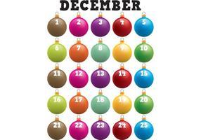 Calendrier d'aventure d'ornements de Noël
