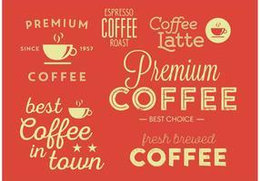 Affiche tipographique typique de café vecteur