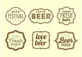 Étiquettes de bière vintage vecteur