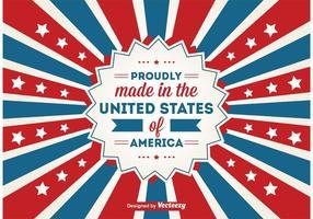 Made in the USA Contexte vecteur