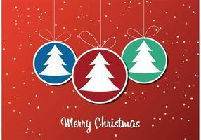 Papier peint d'ornement d'arbre de Noël