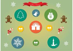 Ensemble d'icônes de Noël vectoriel gratuit