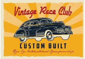 Affiche Cars Retro vecteur