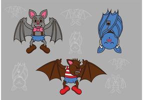 Bats volants de vecteur volant
