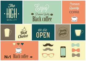 Éléments de conception de café vectoriel gratuit