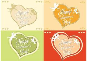 Carte vectorielle gratuite de la Saint-Valentin vecteur