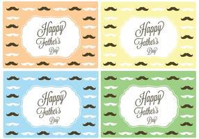 Carte de fête des pères heureuse