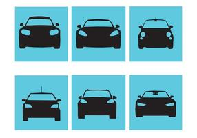 Vecteurs élégants de silhouette de voiture vecteur