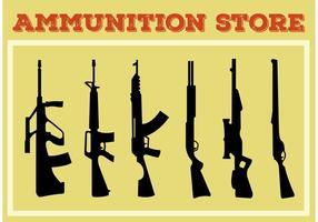 Collection en forme d'arme et de fusil vecteur