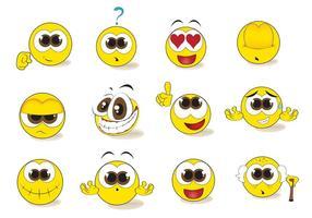 Ensemble de vecteur Smiley Emoticon gratuit