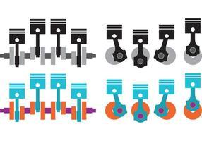 Vecteurs de moteur de piston de travail vecteur