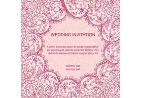 Carte de mariage indienne décorée vecteur