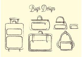 Pack de sacs de voyage vecteur