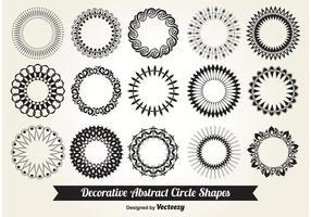 Formes de cercle décoratif vecteur