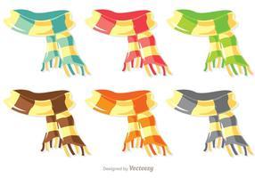 Pack vecteur d'écharpe coloré