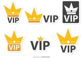 Pack de vecteur d'icônes Crown Vip