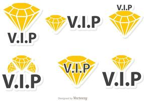 Pack vecteur icônes de diamant Vip