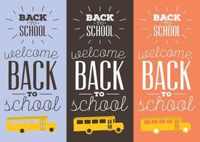 Bannières de retour à l'école