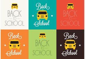 Fond de retour à l'école