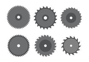 Ensemble de lame de scie circulaire vecteur