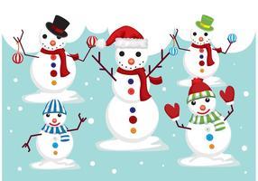 Vecteurs de bonhommes de neige vecteur