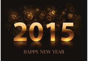 Contexte du Nouvel An de 2015 vecteur