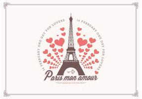 L'amour gratuit à Paris Vector Background