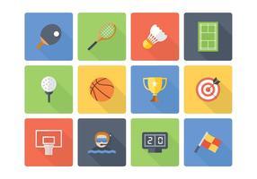 Icônes gratuites de sport plat vecteur