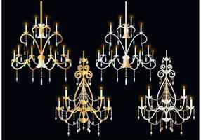 Vecteurs de lustre en cristal vecteur