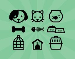 Icônes pour animaux de compagnie vecteur