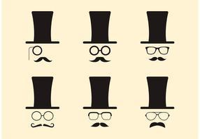 Hipsters à travers les décennies vecteur