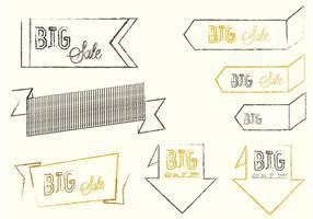 Sketchy Big Sale Banner Vectors