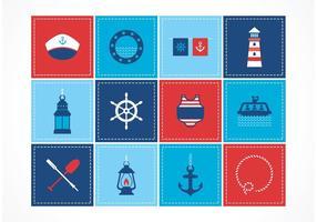 Icônes de vecteur nautique gratuites