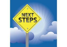 Les étapes suivantes signent l'arrière-plan vecteur