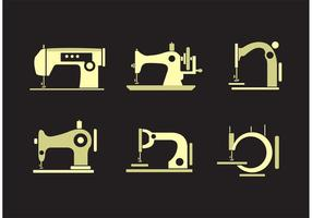 Collection de vecteurs de machine à coudre vintage