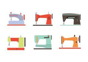 Vecteurs de machines à coudre vintage colorés