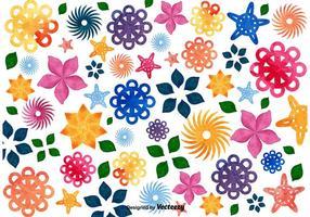 Fond de mosaïque florale vecteur