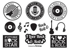Éléments Rock and Roll vecteur