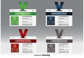 Vecteurs de carte d'identification