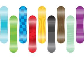 Vecteurs de snowboard