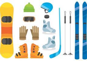 Équipement de sports d'hiver vecteur