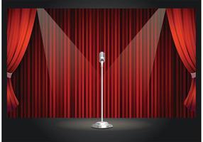 Free Vector Retro Theatre Stage