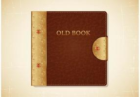 Vecteur de couverture en cuir vieux livre
